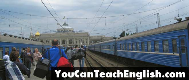 Teach English Ukraine Trains