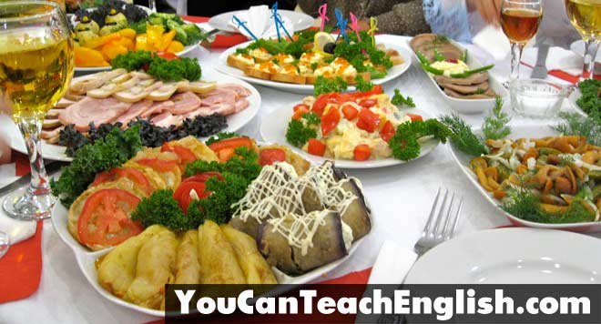 Teach English Ukraine Food